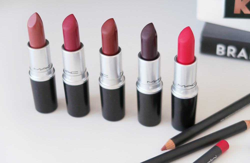 five mac cosmetics lipsticks for fall