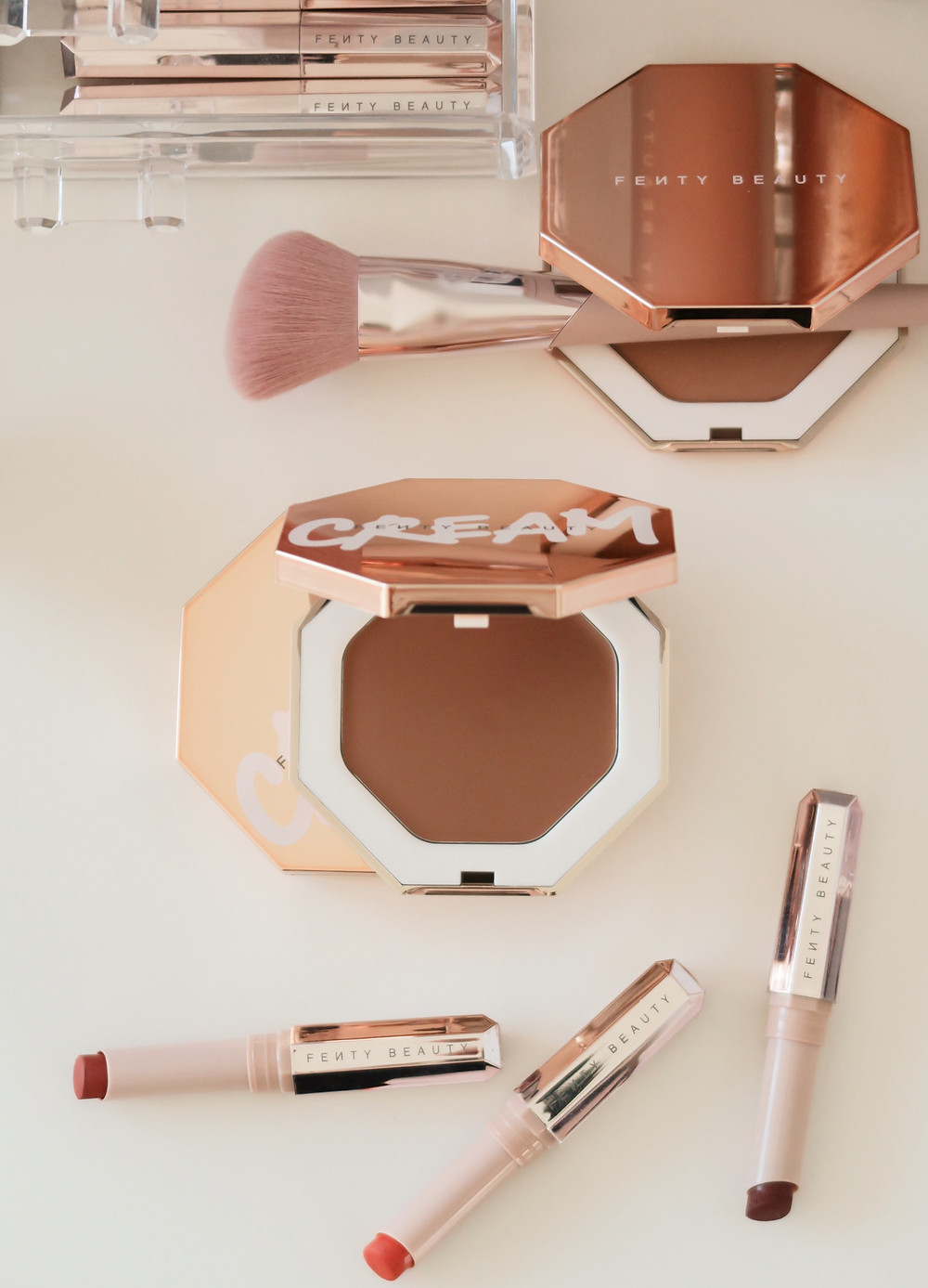 fenty beauty cheeks out cream bronzer blush review