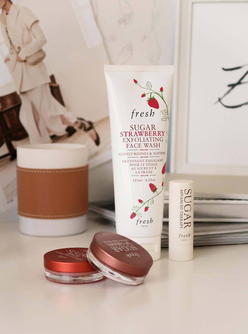 fresh sugar strawberry exfoliating face wash review