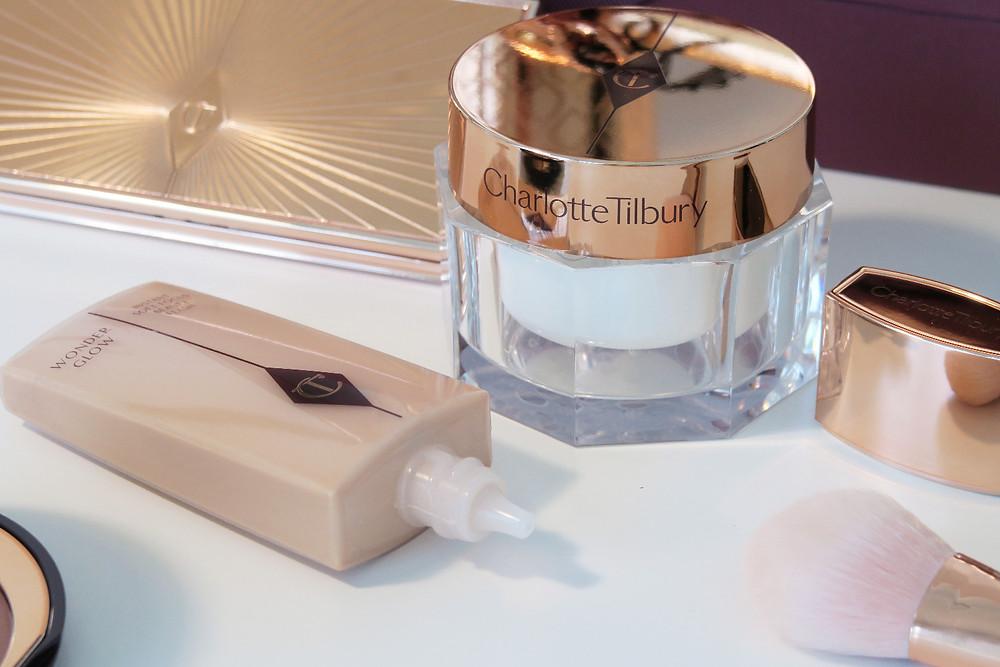charlotte tilbury magic cream and wonderglow primer review
