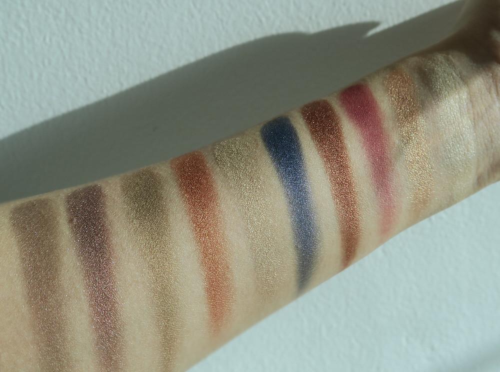 zoeva opulence eyeshadow palette swatches