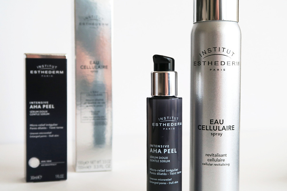 insititut esthederm aha peel and cellular spray review