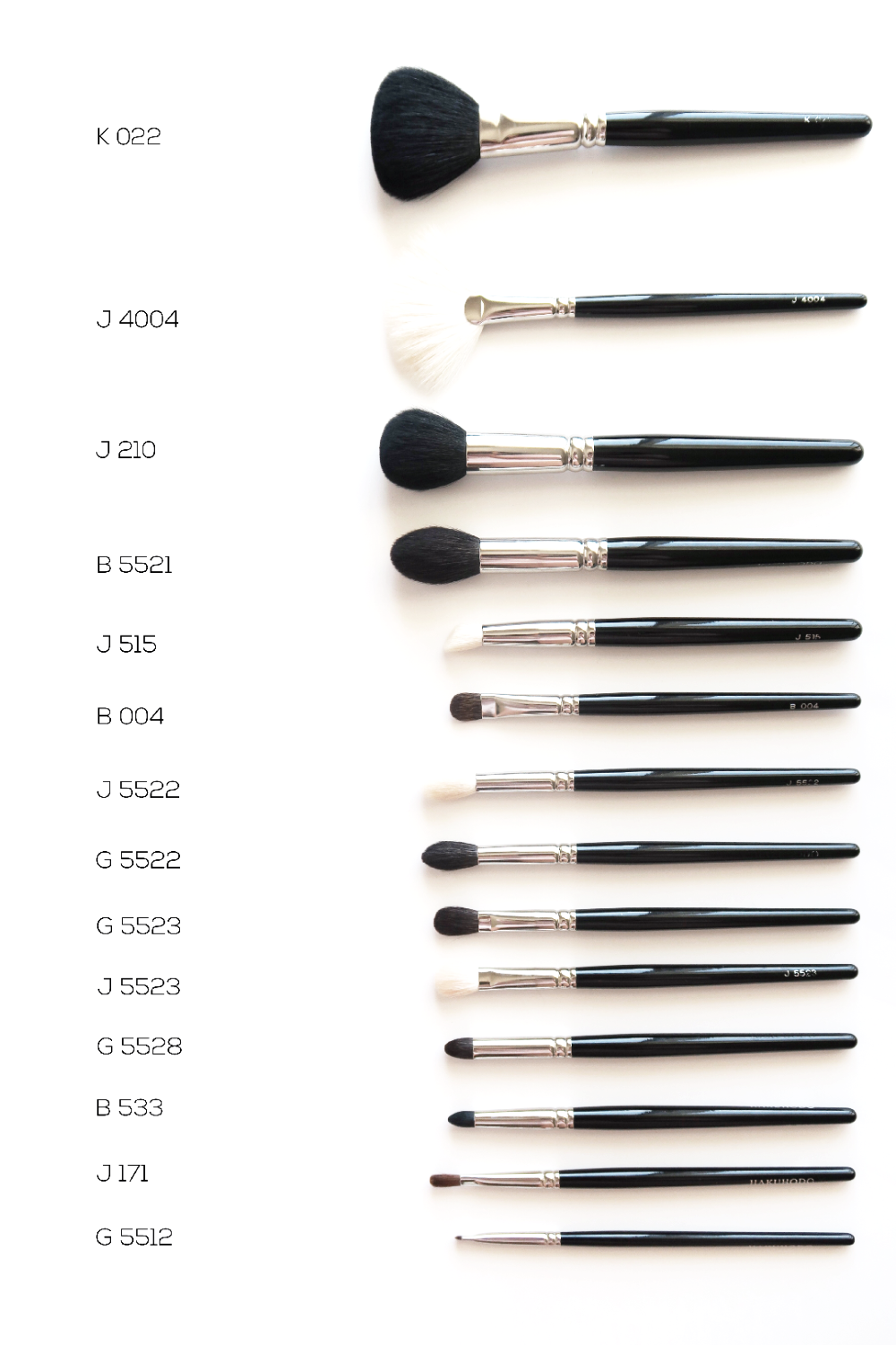 hakuhodo brush collection and review
