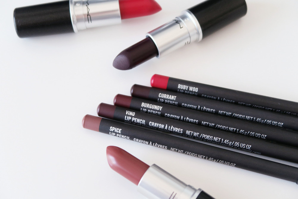 mac lipsticks and lip pencils for fall