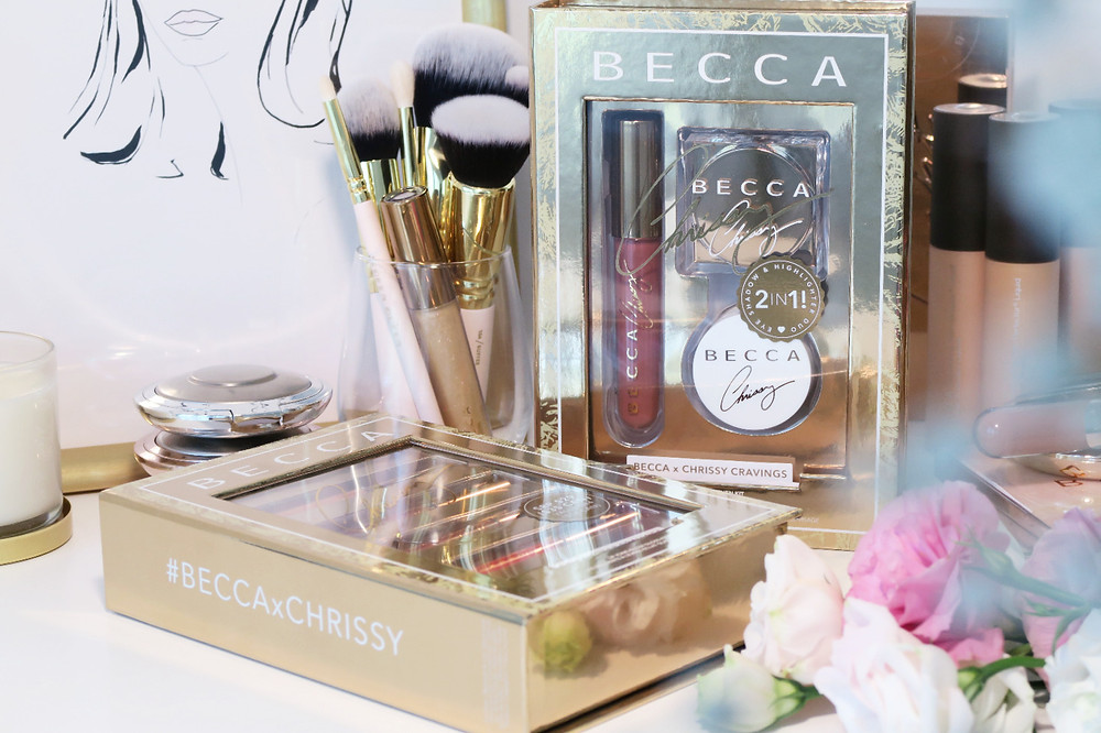 becca cosmetics chrissy cravings collection holiday 2018 review