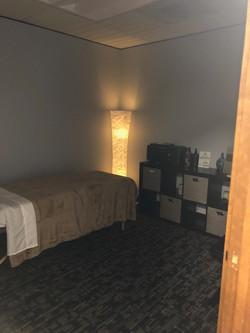 Massage treatment room