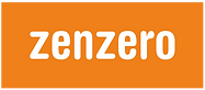 Zenzero Logo Orange with White Font - La
