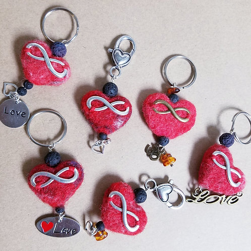 Infinite Love wool felt keychain (See prices and info below)