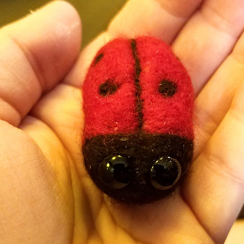 Wool Felt Ladybug Doll (Price and order info below)