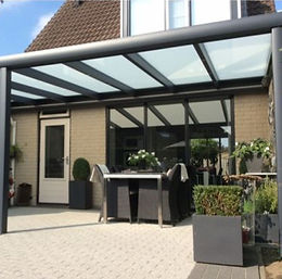 VERANDA is the fix version of pergola. The most economic way of covering your area. Many options exist for covering like glass, polycarbonate-sheet or even wood-panels etc.