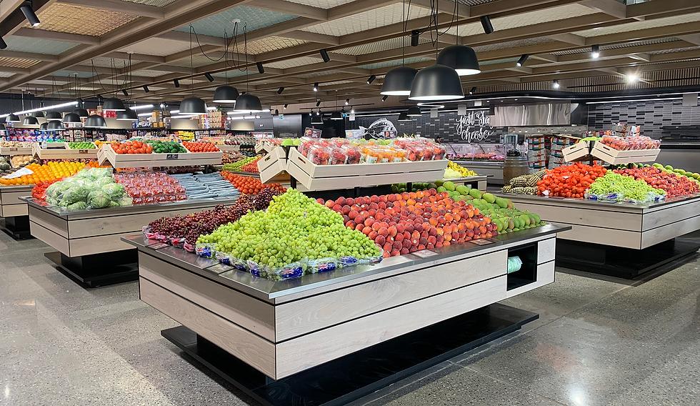 FResh produce displays I Ausmart International Fixtures