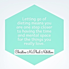 Letting go of dieting...