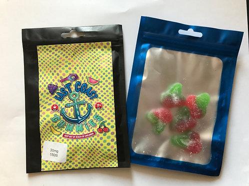 East Coast Gummies - 150mg/bag 30mg/gummy