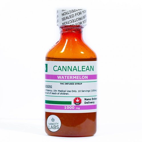 Watermelon Cannalean - 1000mg THC Infused Syrup
