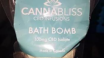 Cannabliss CBD Bath Bomb   100mg