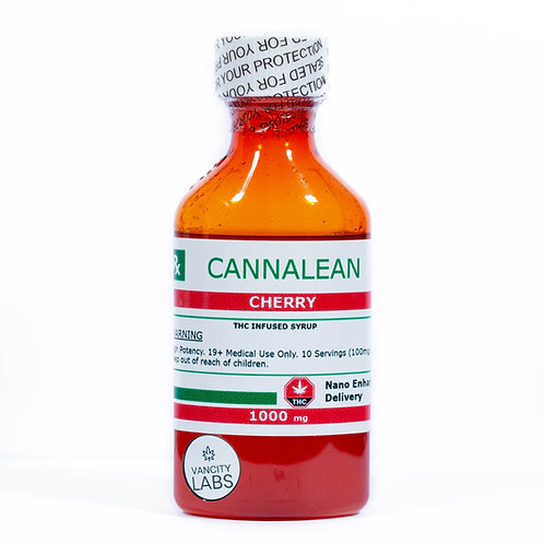 Cherry  Cannalean - 1000mg THC Infused Syrup
