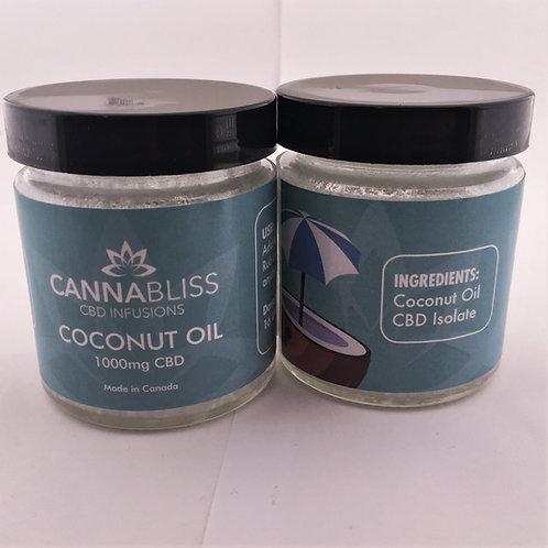 CannaBliss Coconut Oil - 1000mg