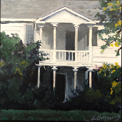 "Nancy Jones House, Historic Cary, NC, 12"" x 12"""