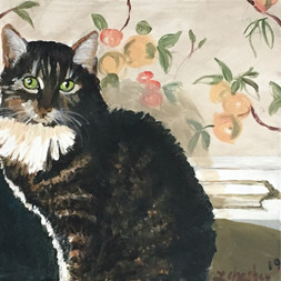 Tabby Cat with Peaches