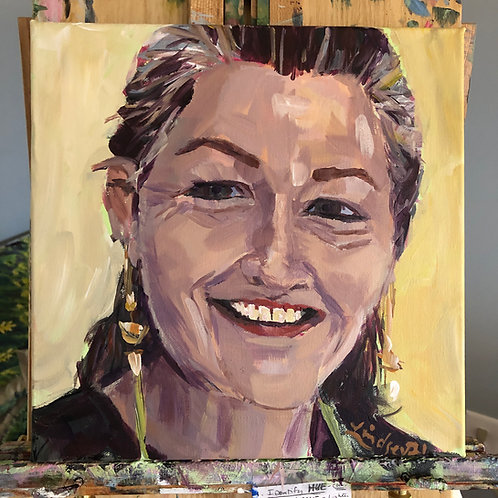 Custom acrylic portrait paintings
