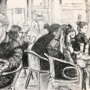 Rembrandt Plein preliminary sketch for p