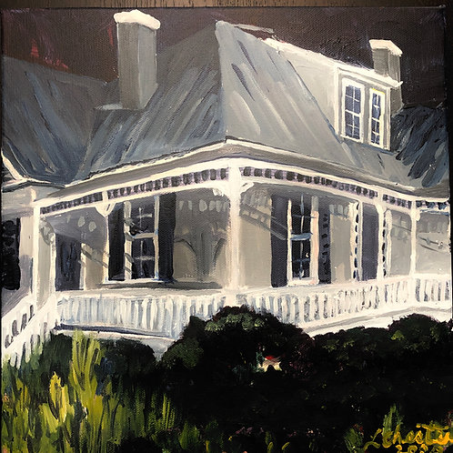 "Sam Jones House, Historic Cary, NC, 12"" x 12"""