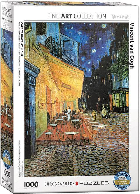 Puzzle Terraza De Café Por La Noche De Vincent Van Gogh