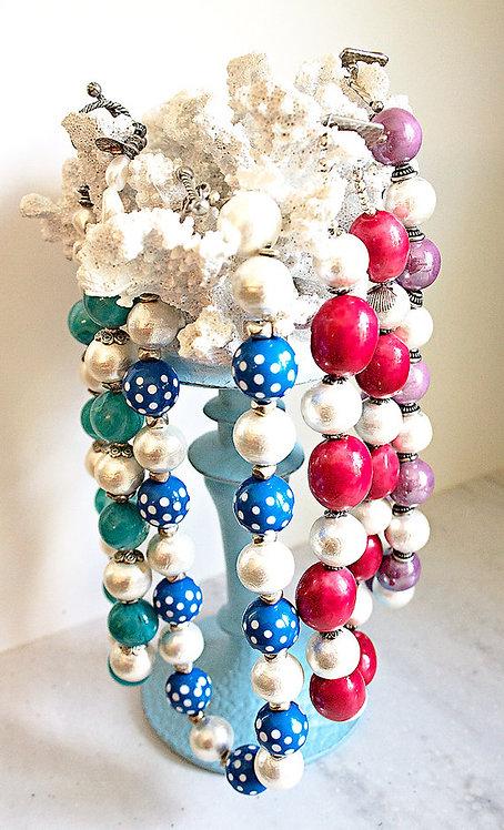 Peak's Island Cotton Pearl Necklace