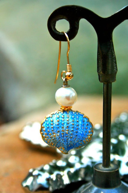 Shell & Pearl Earring