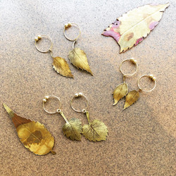 木の葉 イヤリング