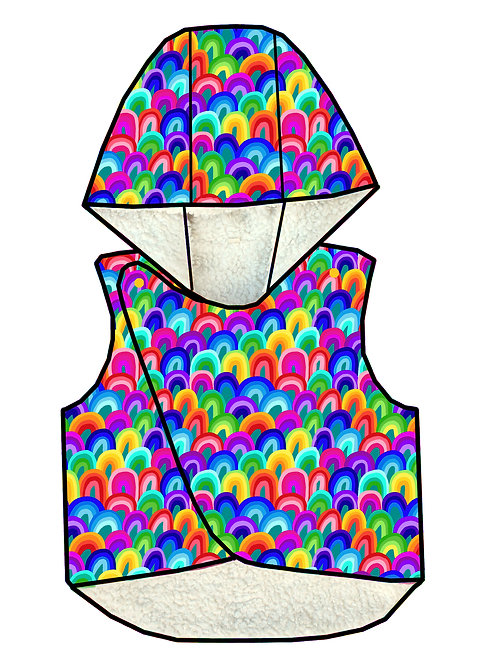 Gilet sans manches Rainbow art