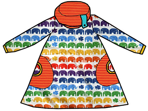 Robe rainbow elephant