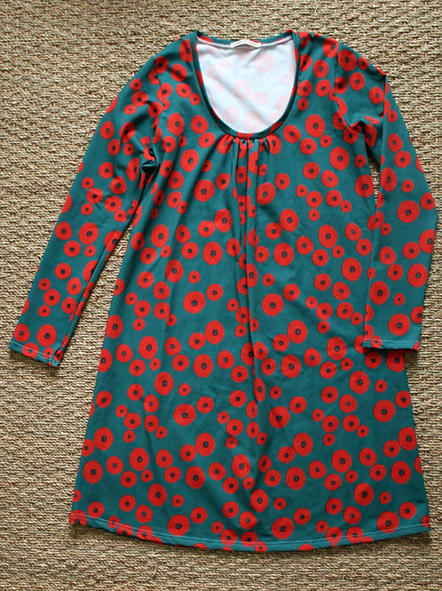 Robe femme Coquelicots bleu - 34-52