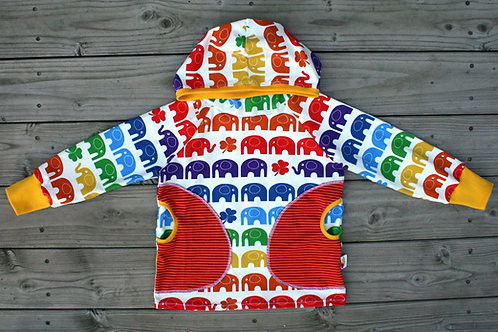 Tee-shirt à capuche rainbow elephant