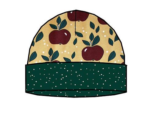 Bonnet de naissance pommes