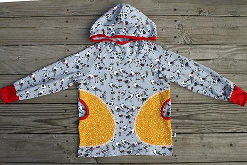 Tee-shirt à capuche oiseaux - 6 ans