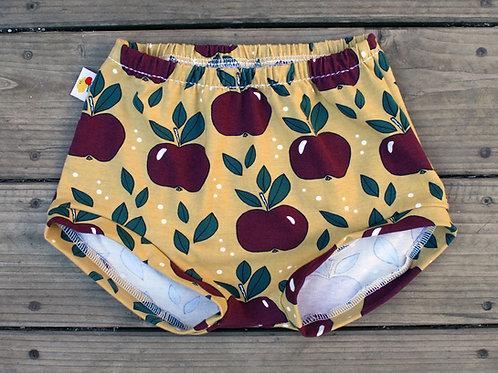 Bloom'short Pommes rouges sur fond jaune