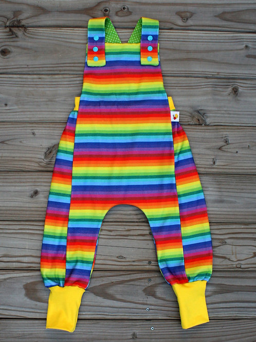 Salopette Rainbow stripes