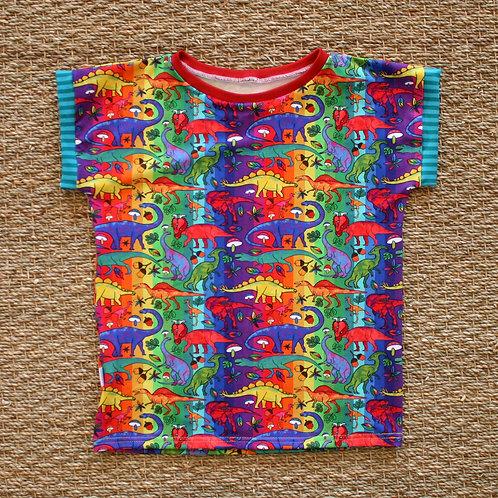 Tee-shirt Rainbow dinos
