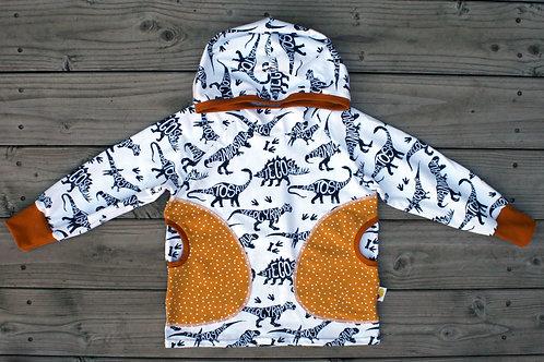 Tee-shirt à capuche dinosaures