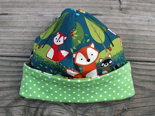Bonnet de naissance forêt enchantée