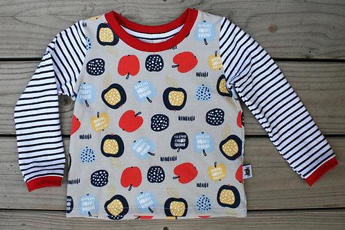 Tee-shirt ML pommes - 18 mois