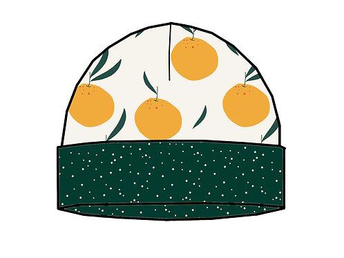 Bonnet de naissance oranges