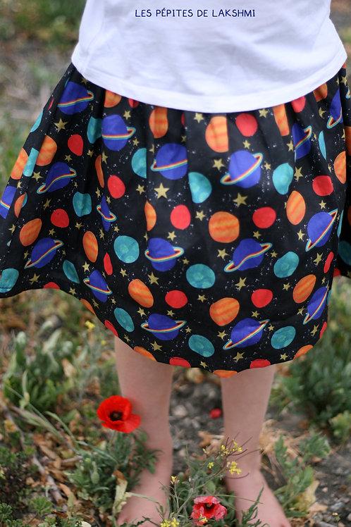 Short/Pantalon/Jupe/Jupe short en coton Planètes
