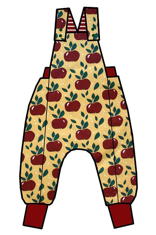 Salopette pommes rouges