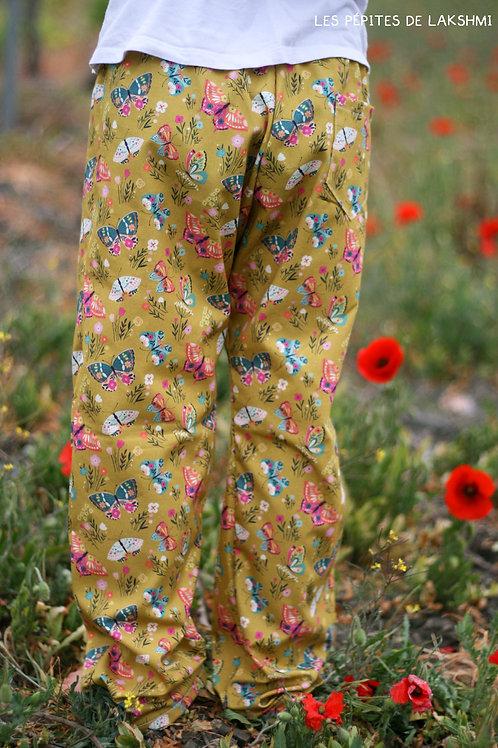 Short/Pantalon/Jupe/Jupe short en coton Papillons