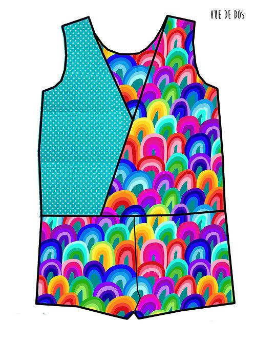 Combishort Rainbow art