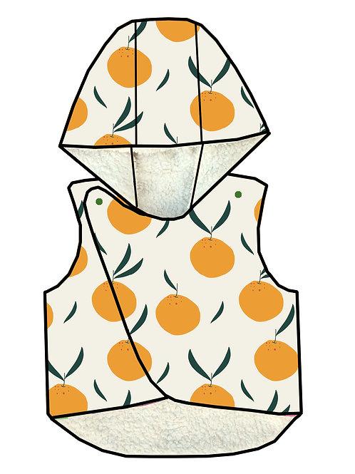 Gilet sans manches oranges
