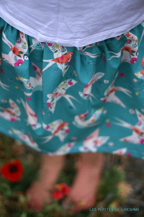 Jupe short en coton Hirondelles - 8ans