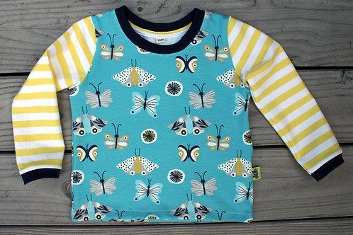 Tee-shirt ML papillons - 18 mois